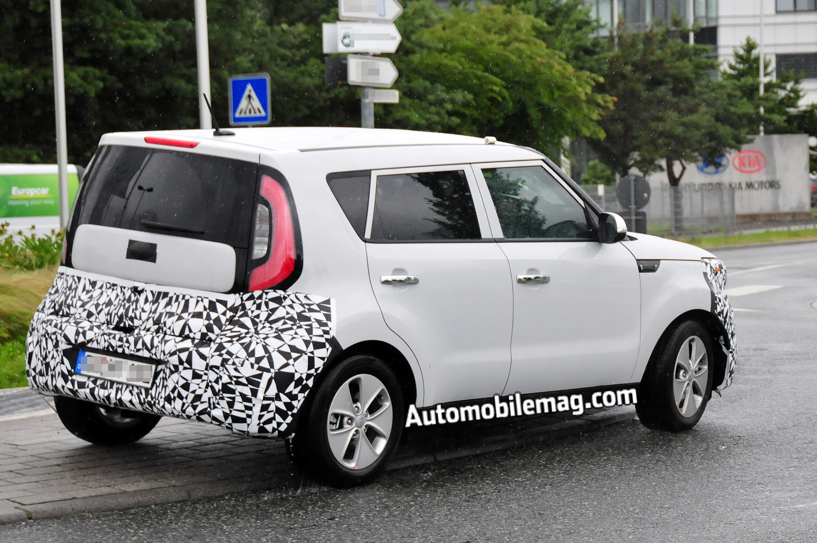 2014 kia soul ev spotted testing. Black Bedroom Furniture Sets. Home Design Ideas