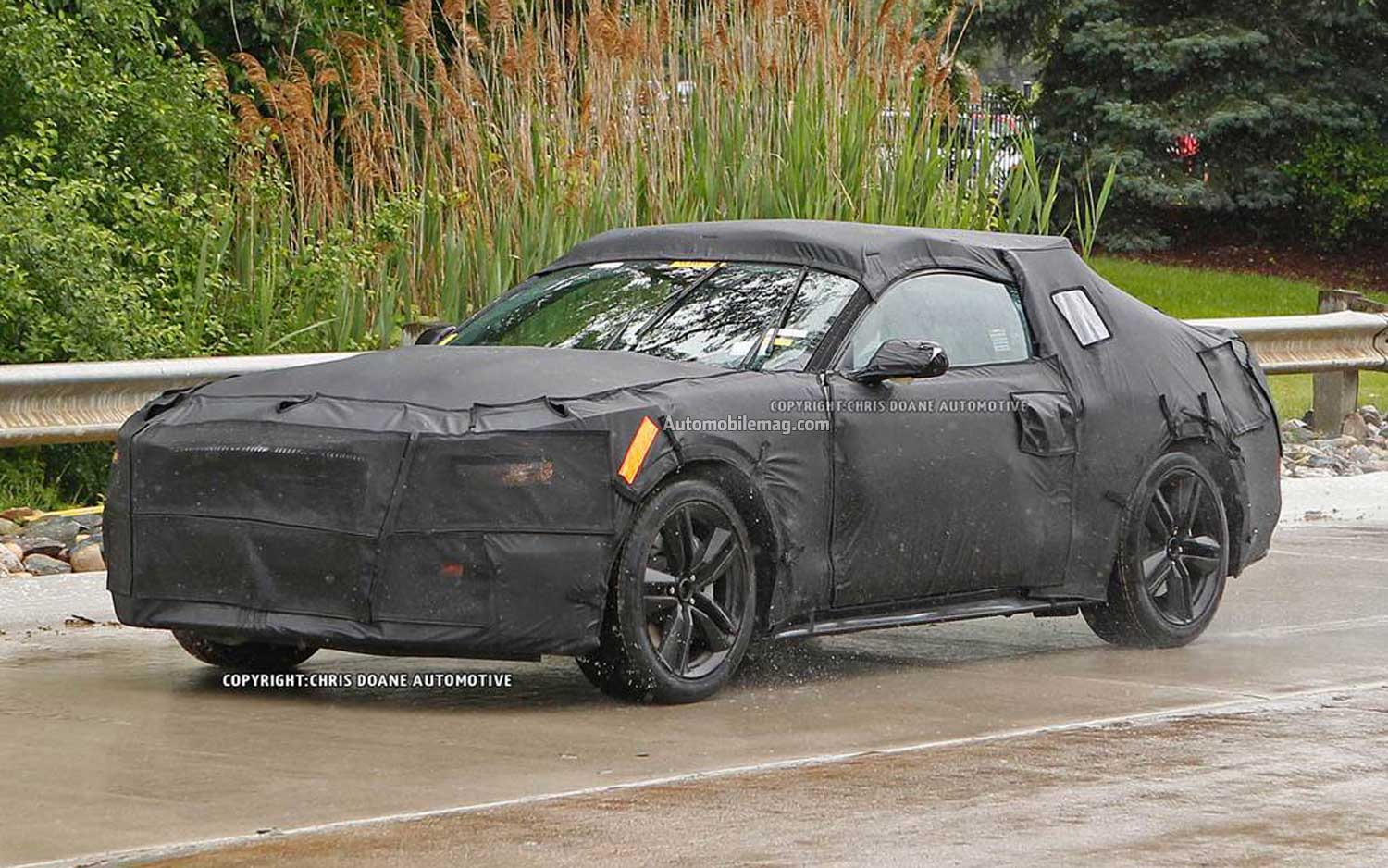 2015 Ford Mustang Spied Front Three Quarter 111