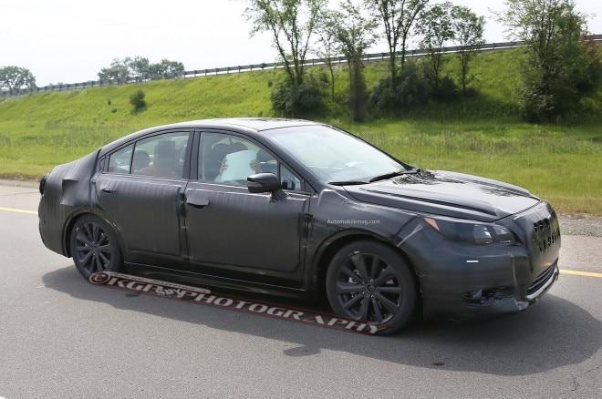 2015 Subaru Legacy Spied Front Three Quarter 061 660x438