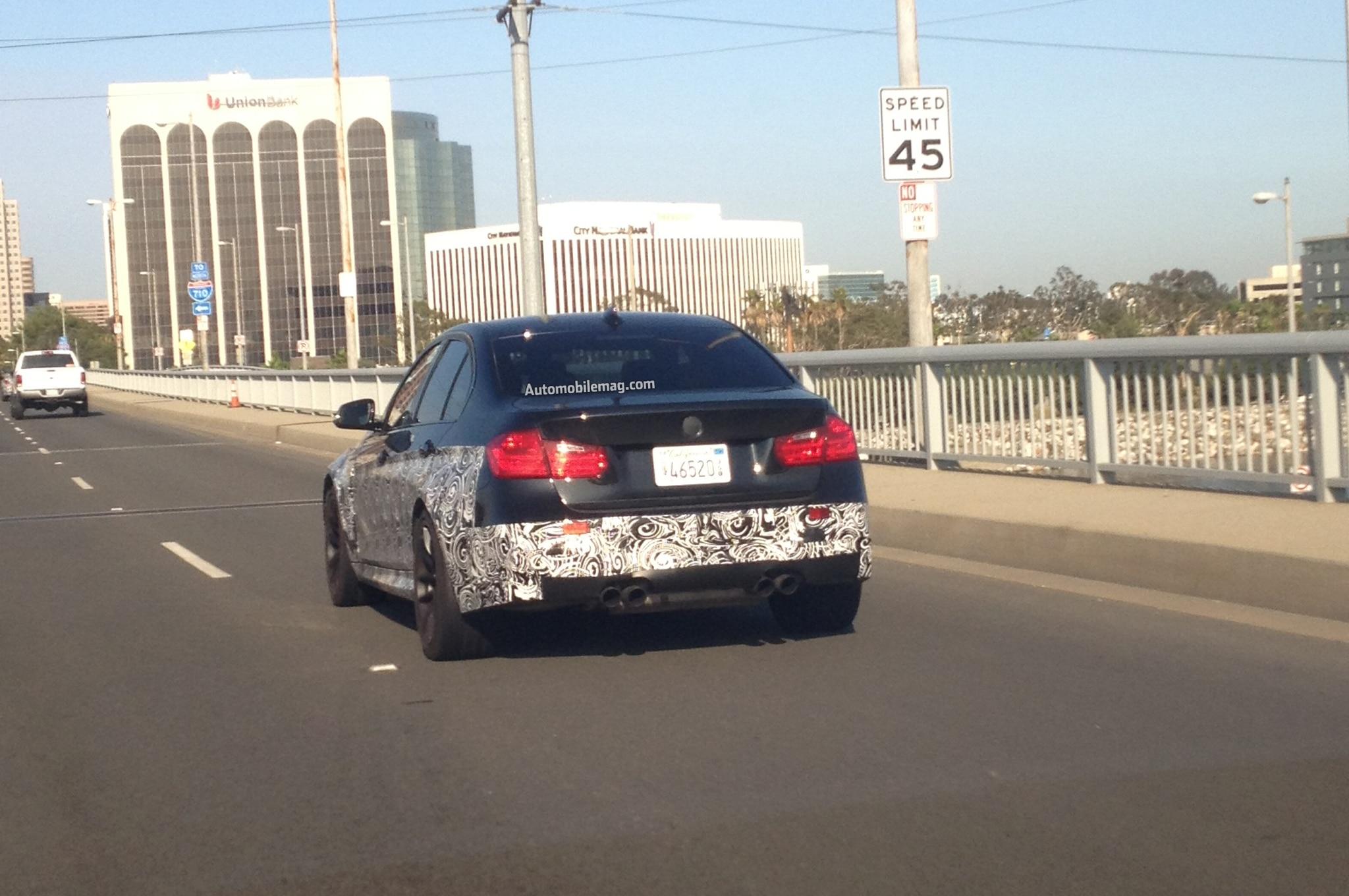 BMW M3 F30 Sedan Rear Shot1