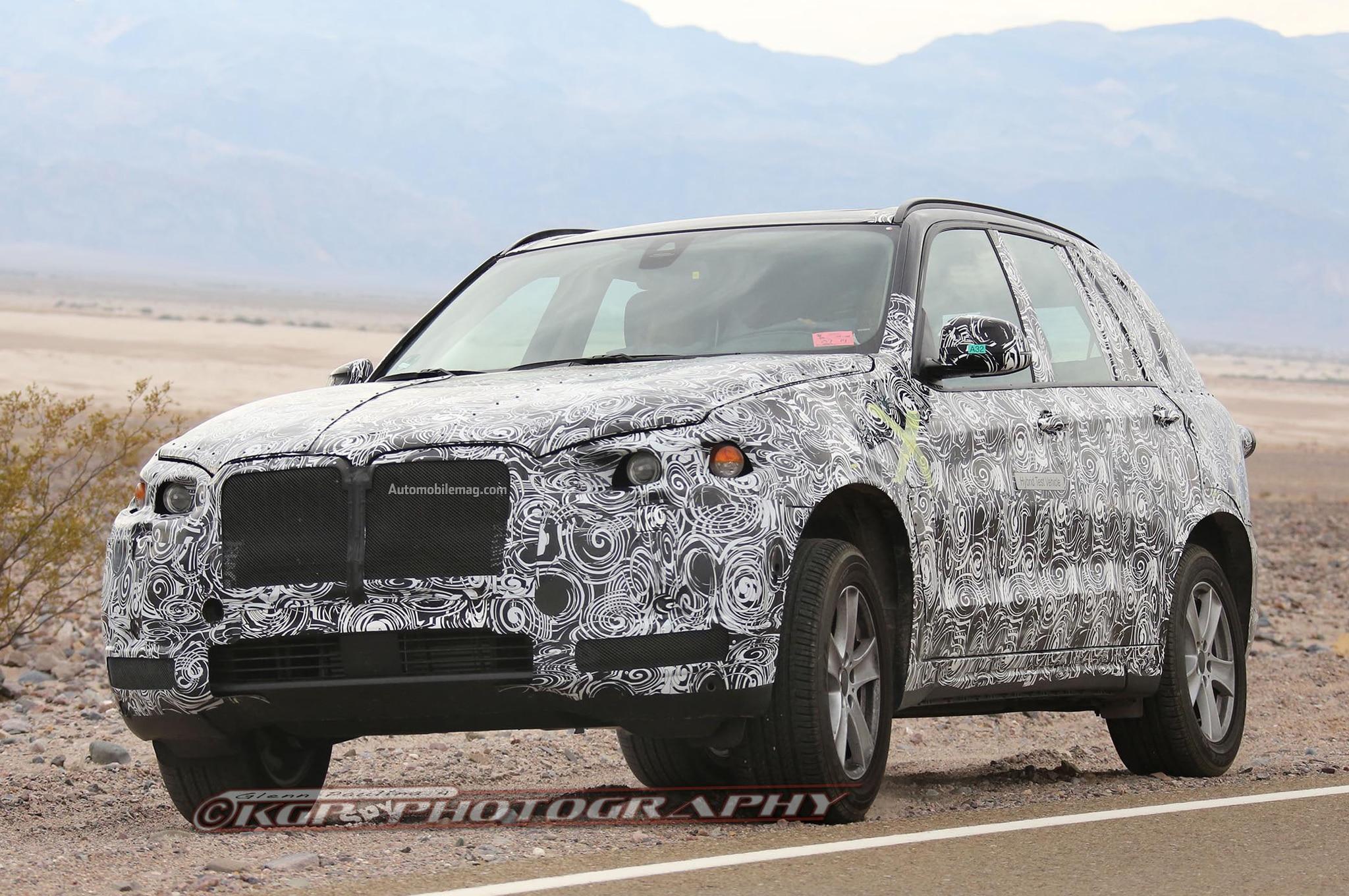 BMW X5 Plug In Spied Front Three Quarter 11