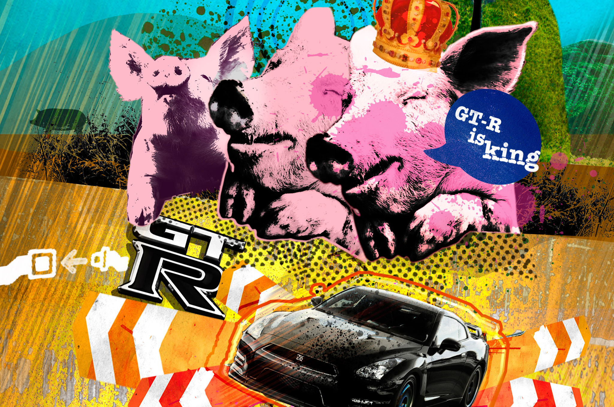 GT R Pigs Illustration Cropped