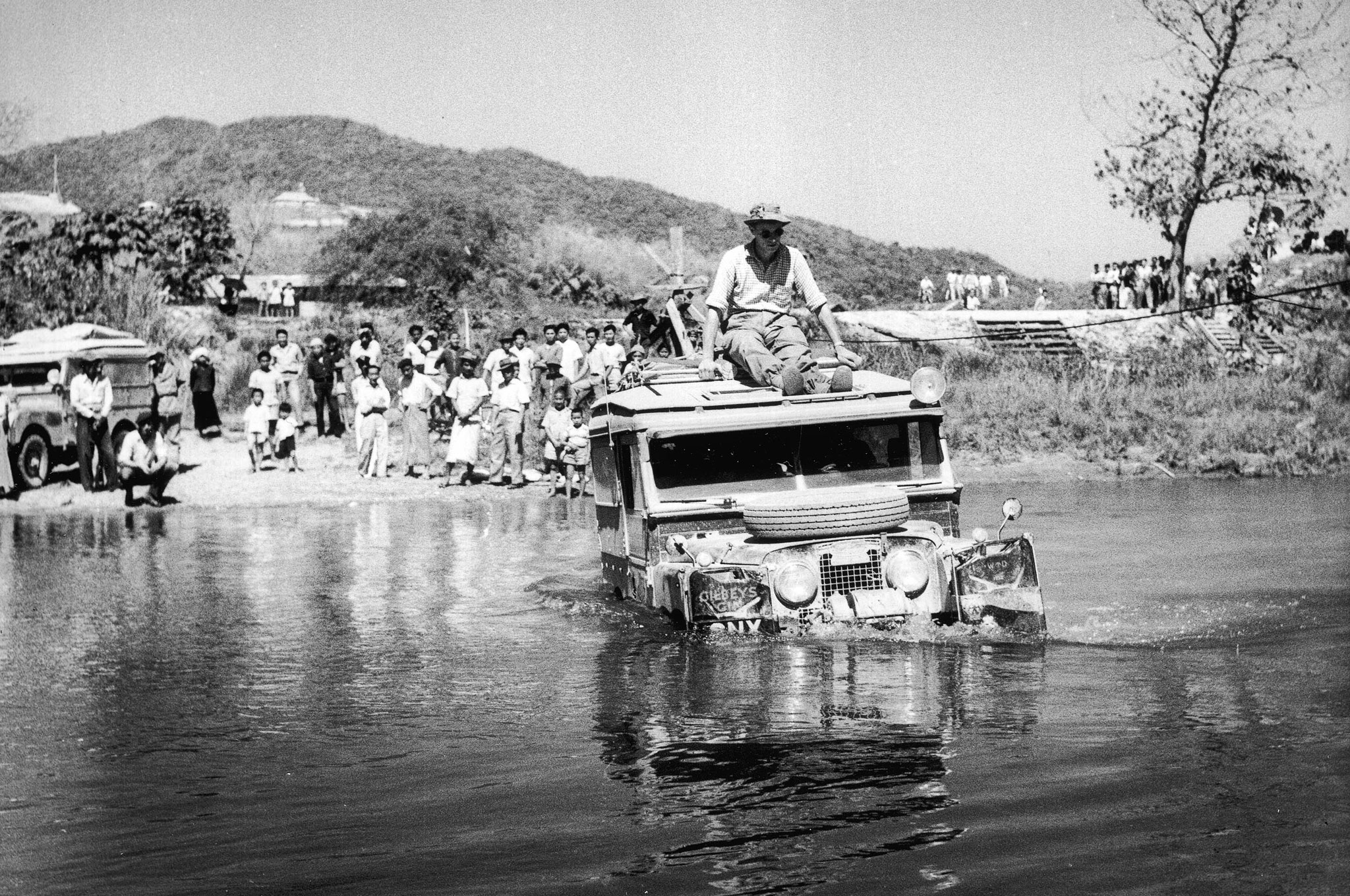 Land Rover In The Water