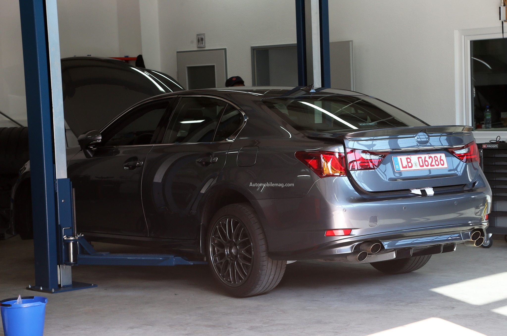 Lexus GS F Spied Rear Three Quarter 11