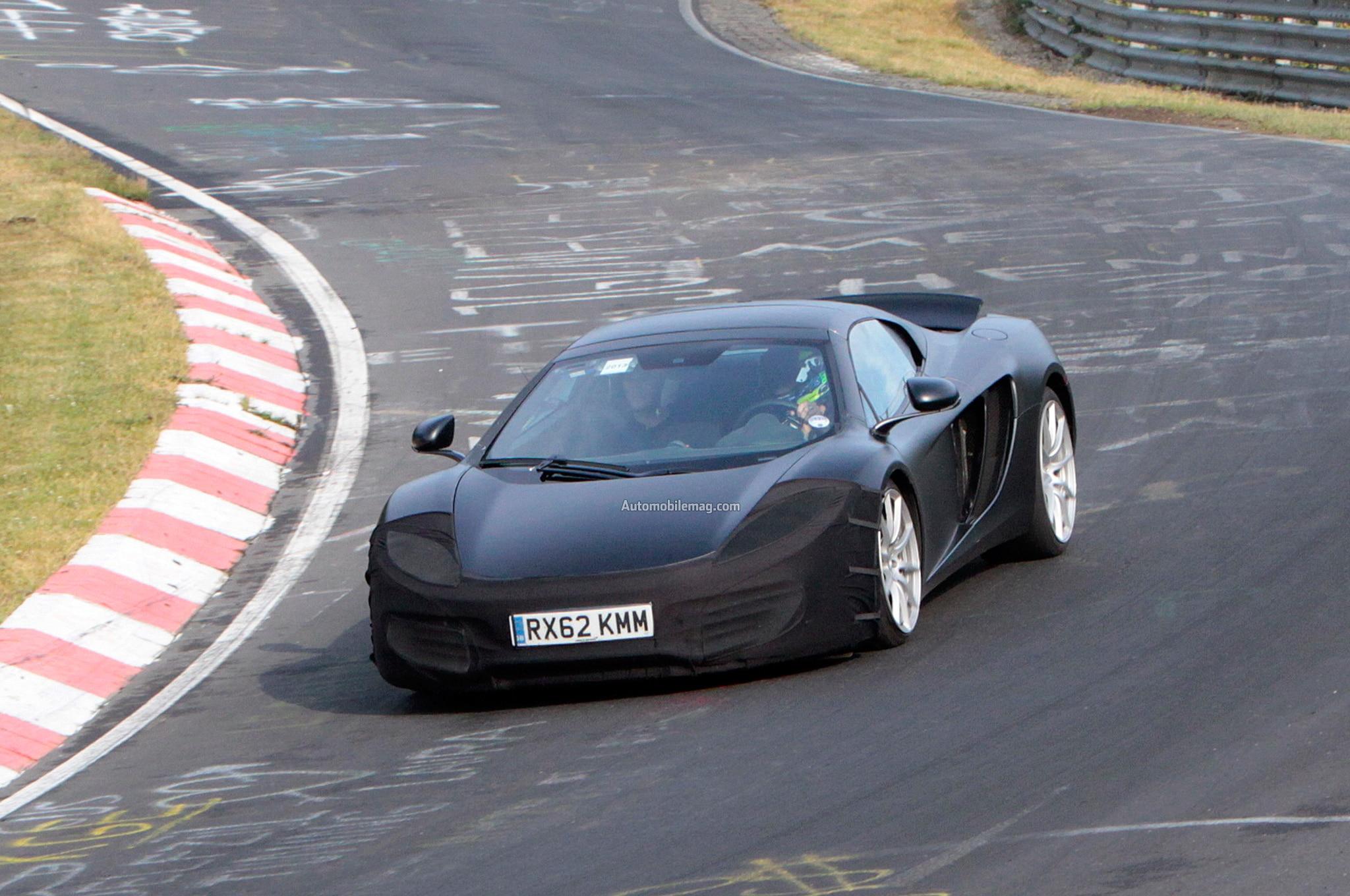 McLaren 12C Spyder Spied Front Three Quarter 11