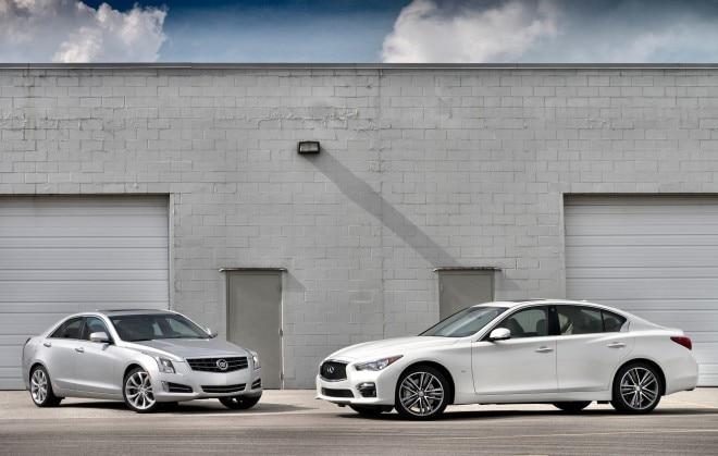 2013 Cadillac ATS And 2014 Infiniti Q50 Parked1 660x419