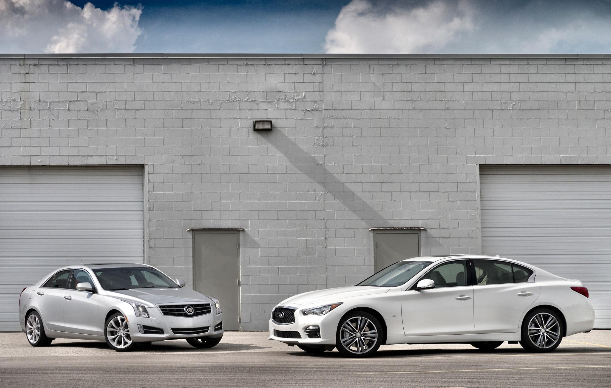 2013 Cadillac ATS And 2014 Infiniti Q50 Parked1