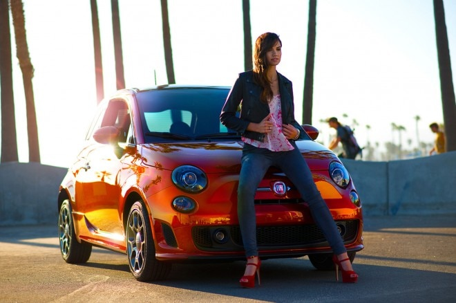2013 Fiat 500 Turbo Cattiva Front With Weird Girl1 660x438