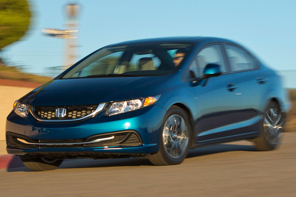 2013 Honda Civic EX Front Three Quarter In Motion1