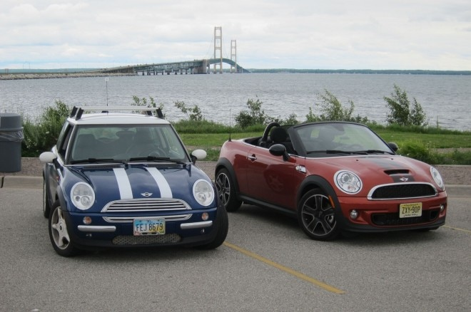 2013 Mini Cooper S Roadster And 2003 Mini Cooper Front Three Quarter 11 660x438