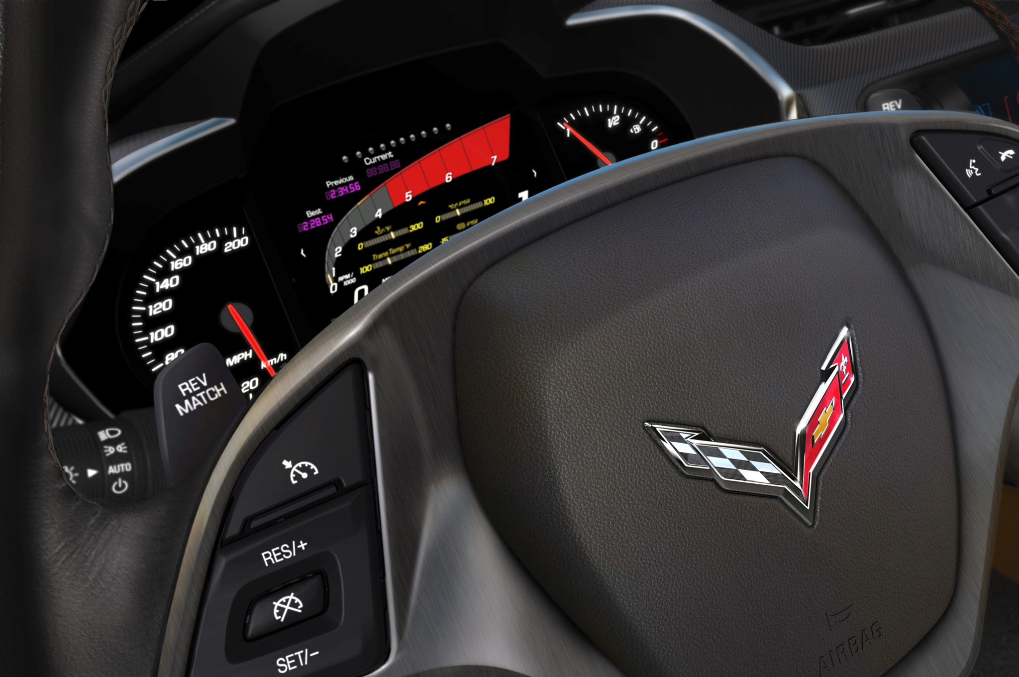 2014 Chevrolet Corvette Stingray Gauge Cluster Detail View1