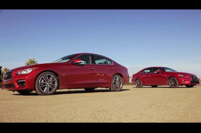 2014 Lexus IS 350 F Sport With 2014 Infiniti Q50 S Profile1 660x438