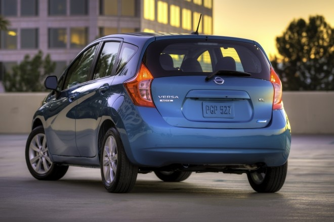 2014 Nissan Versa Note Rear Three Quarters1 660x438