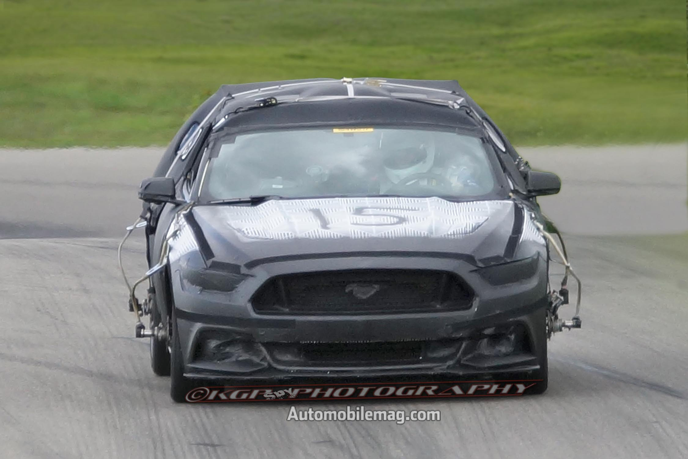 2015 Ford Mustang Undisguised Prototype Front View 41