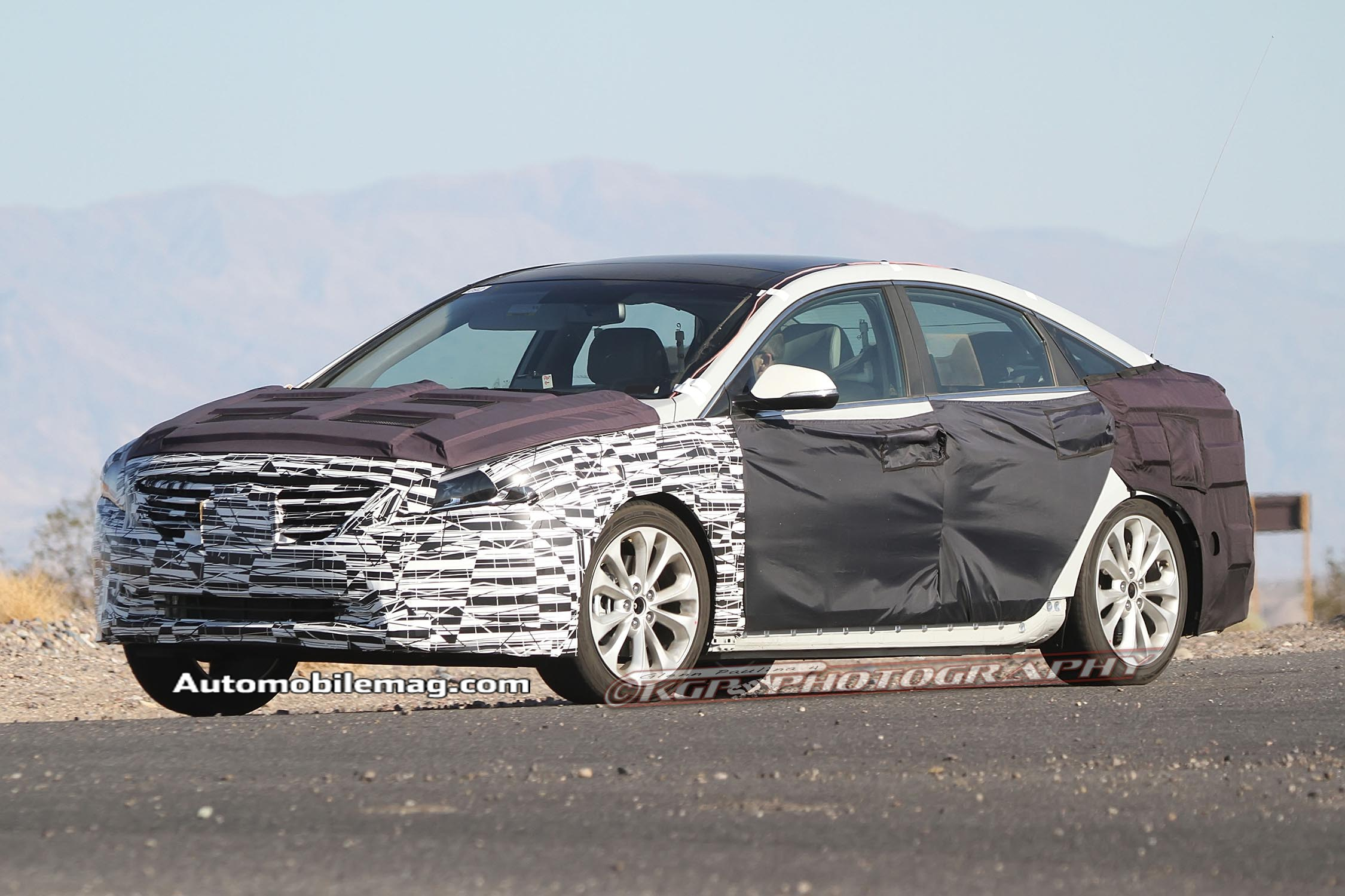 2015 Hyundai Sonata Front Three Quarter Spied 51