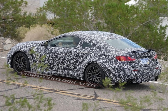 2015 Lexus RC F Coupe Spied Rear Three Quarter 11 660x438