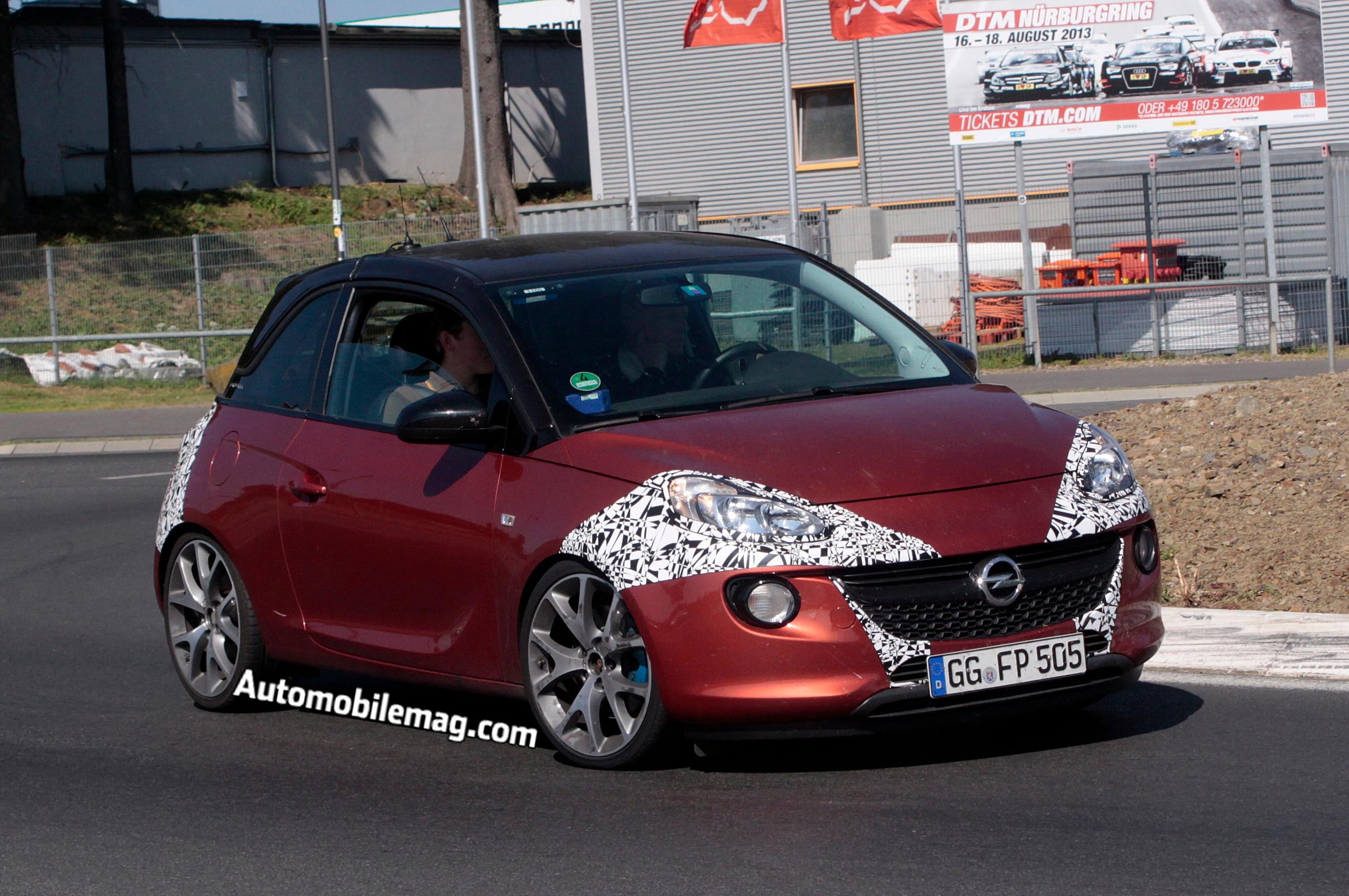2015 Opel Adam OPC Front Three Quarter Spied 21