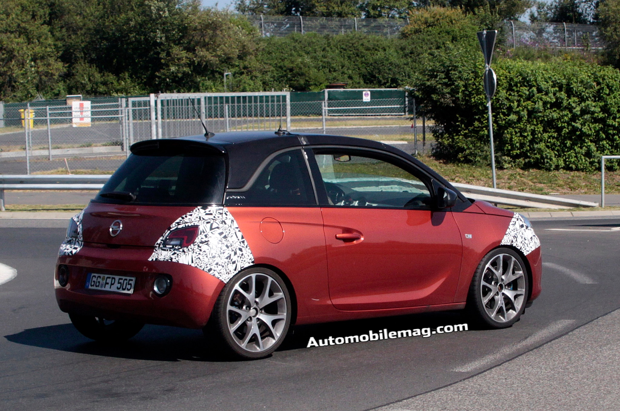 2015 opel adam opc hot hatch spied. Black Bedroom Furniture Sets. Home Design Ideas