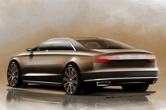 2015 Audi A8 Left Rear Angle Sketch Color1 660x438