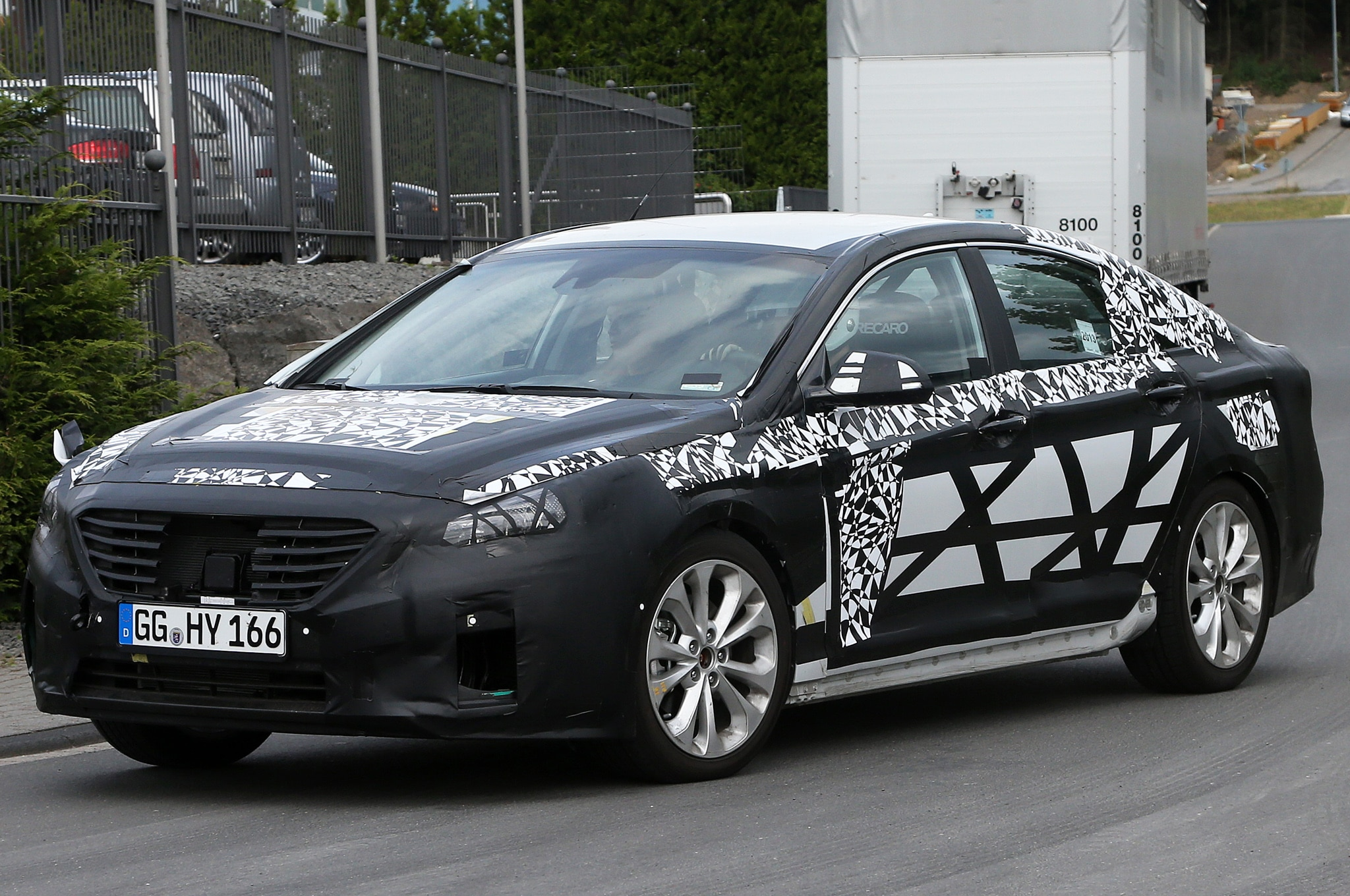 2015 Hyundai Sonata Spied Front Three Quarters 21