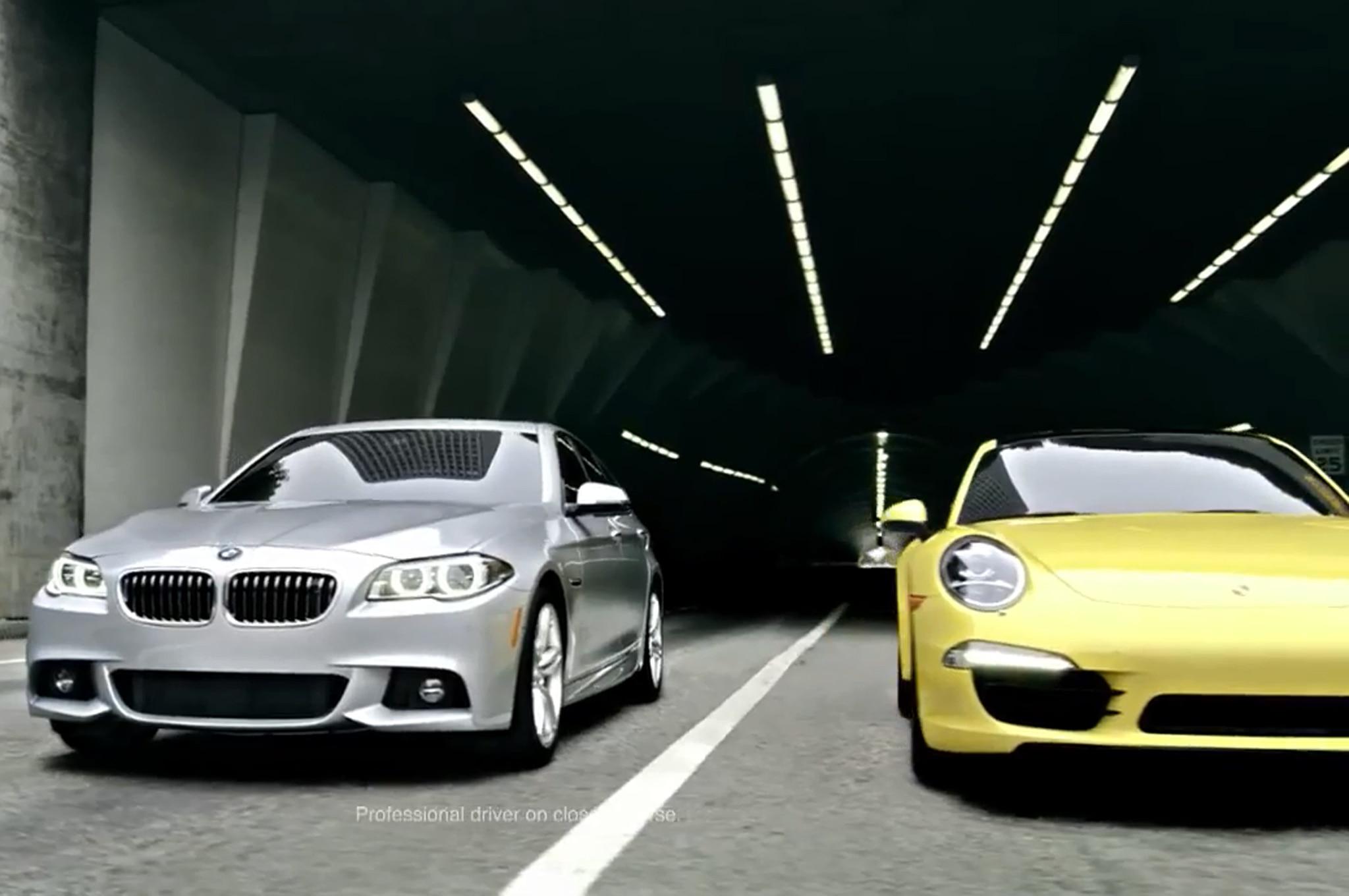 BMW 2014 BMW 535d With Porsche 9111