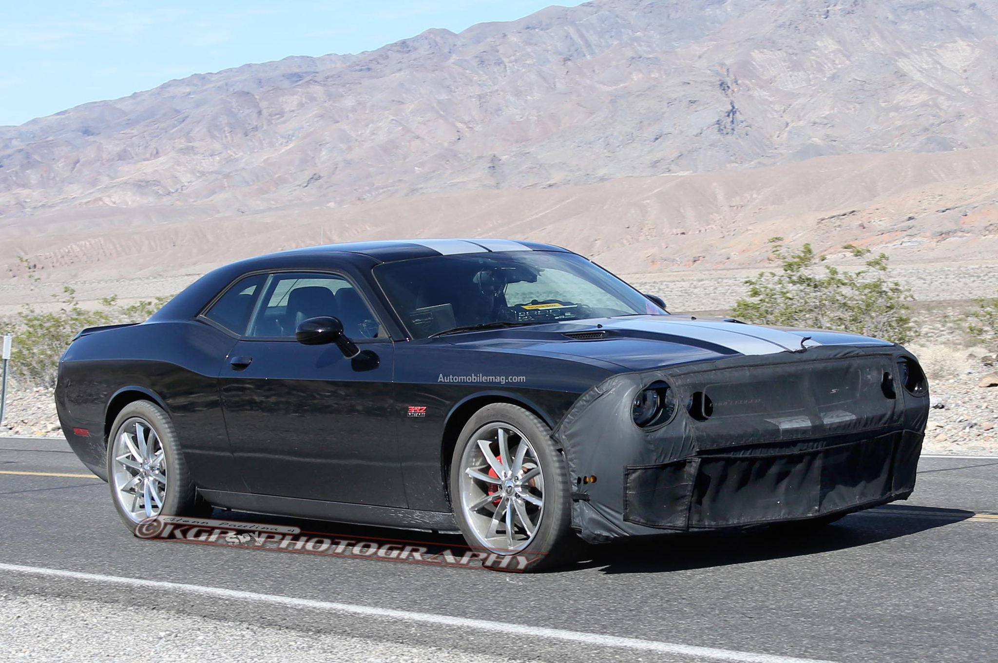 spied dodge challenger hellcat prototypes in the desert. Black Bedroom Furniture Sets. Home Design Ideas