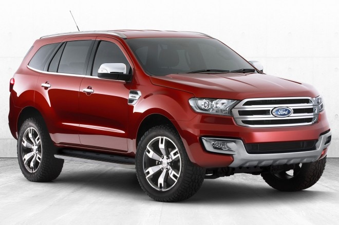 Ford Everest Concept SUV Front Side View1 660x438