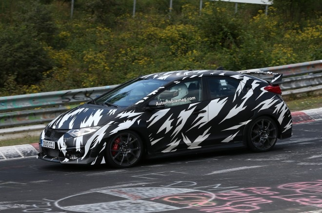 Honda Civic Type R Prototype On Track Left Front 31 660x438