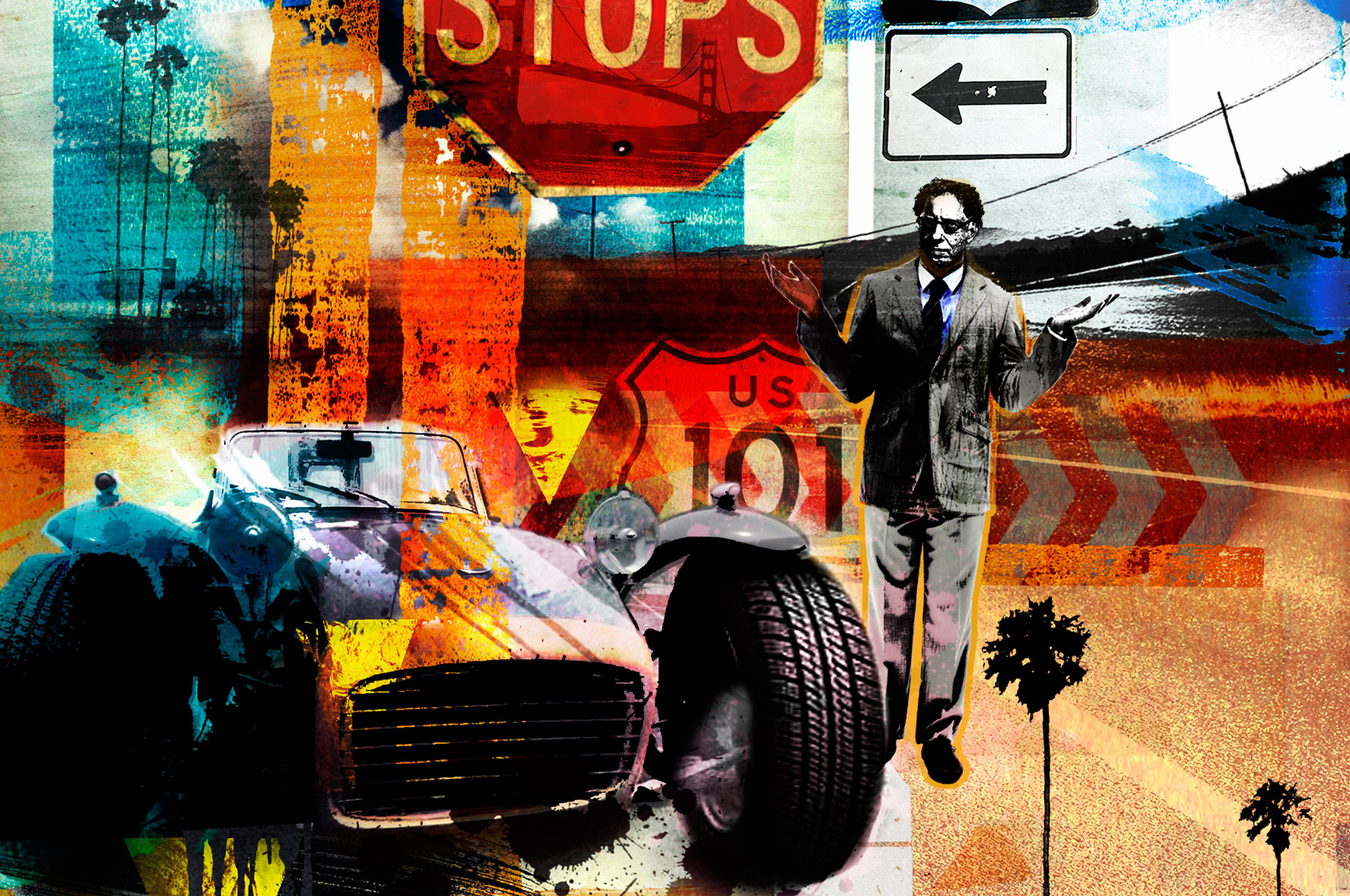 Road Signs Illustration Cropped