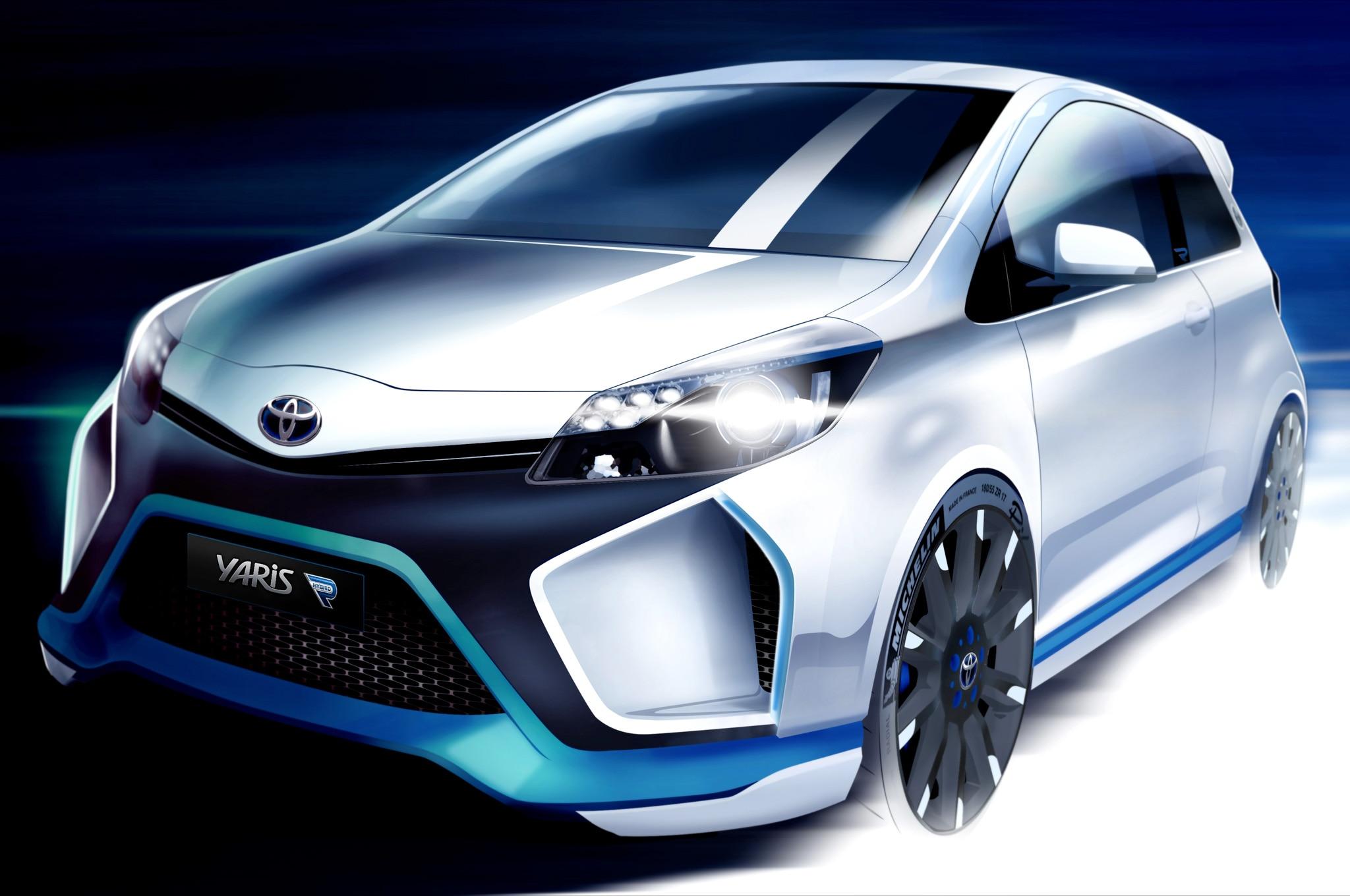 Toyota Yaris Hybrid R Concept Full Rendering Image