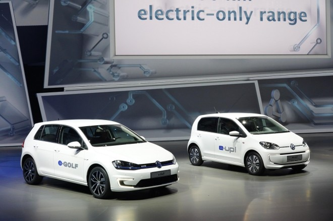 Volkswagen E Golf And E Up Front Three Quarters1 660x438