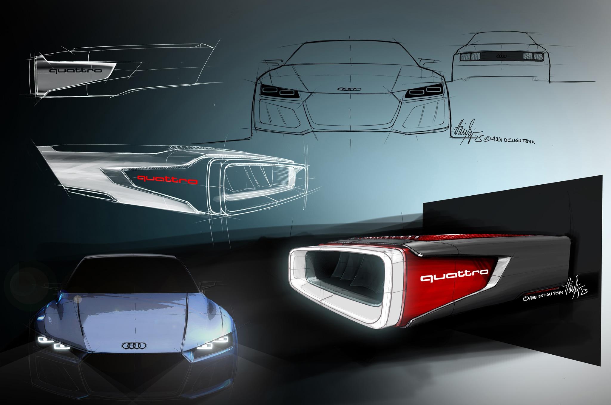Audi Sport Quattro Hybrid Concept Sketches Emerge