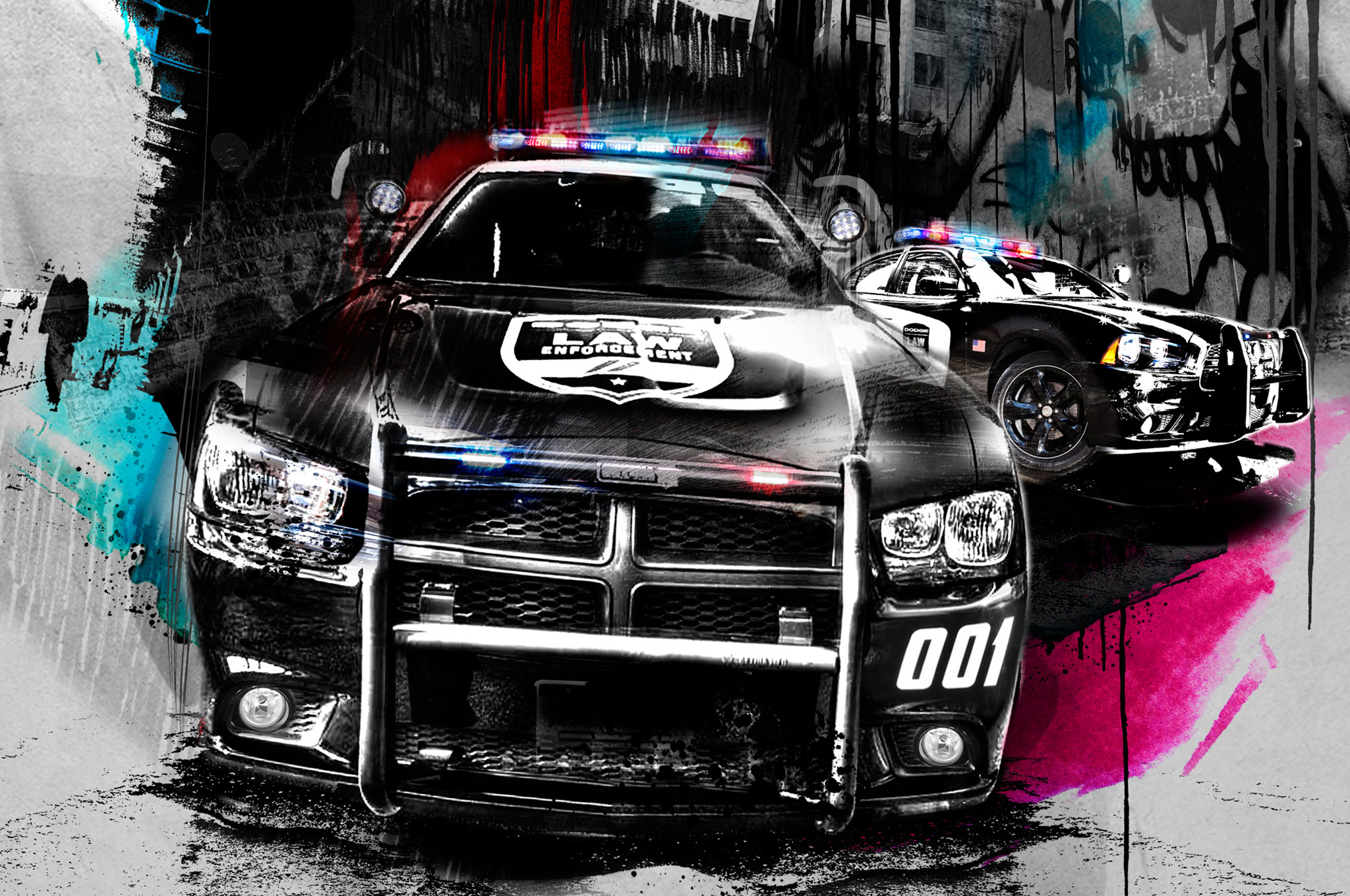 Police Car Illustration Cropped