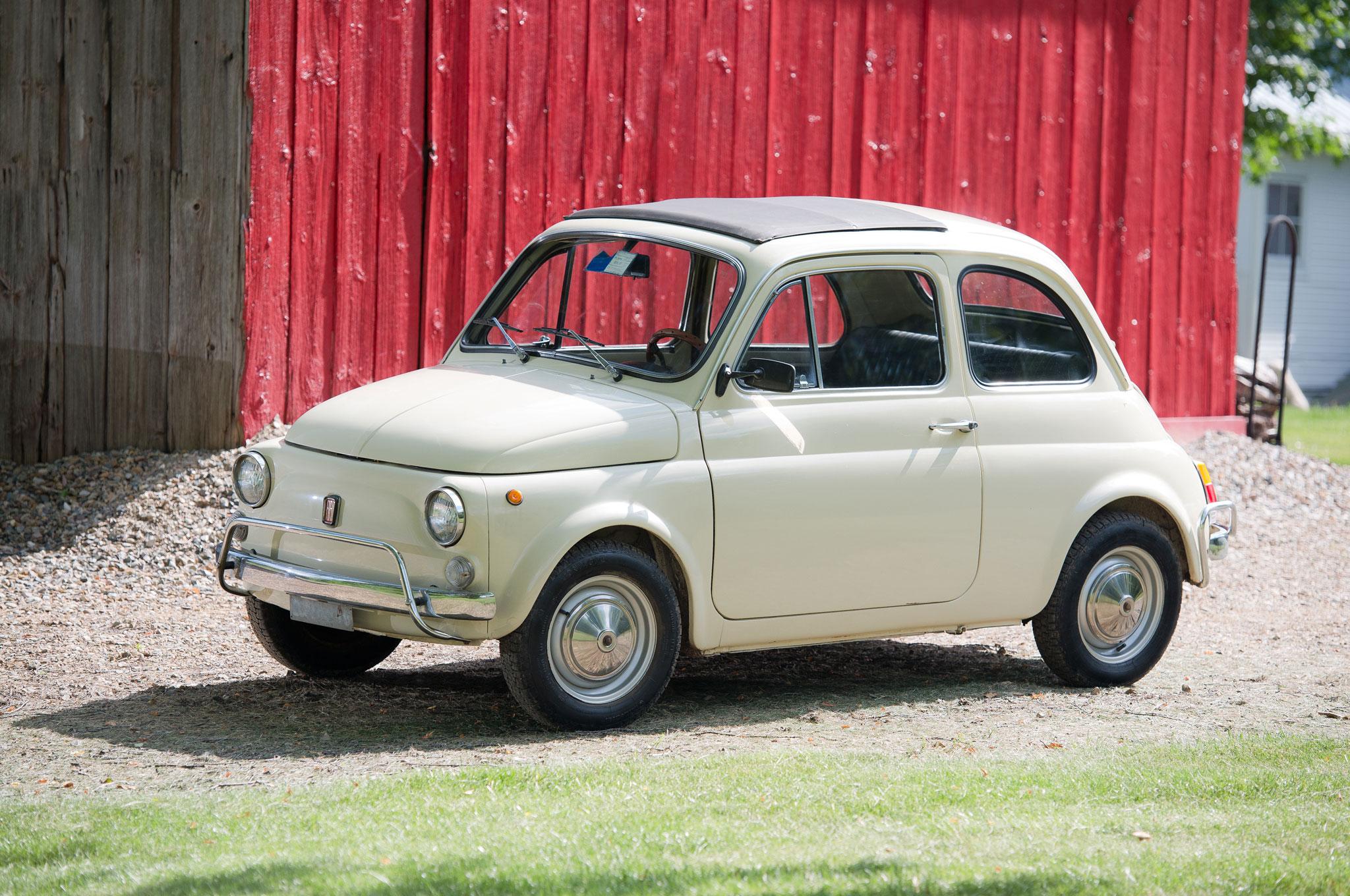1970 Fiat 500L Two Door Sedan Front Left Side View1