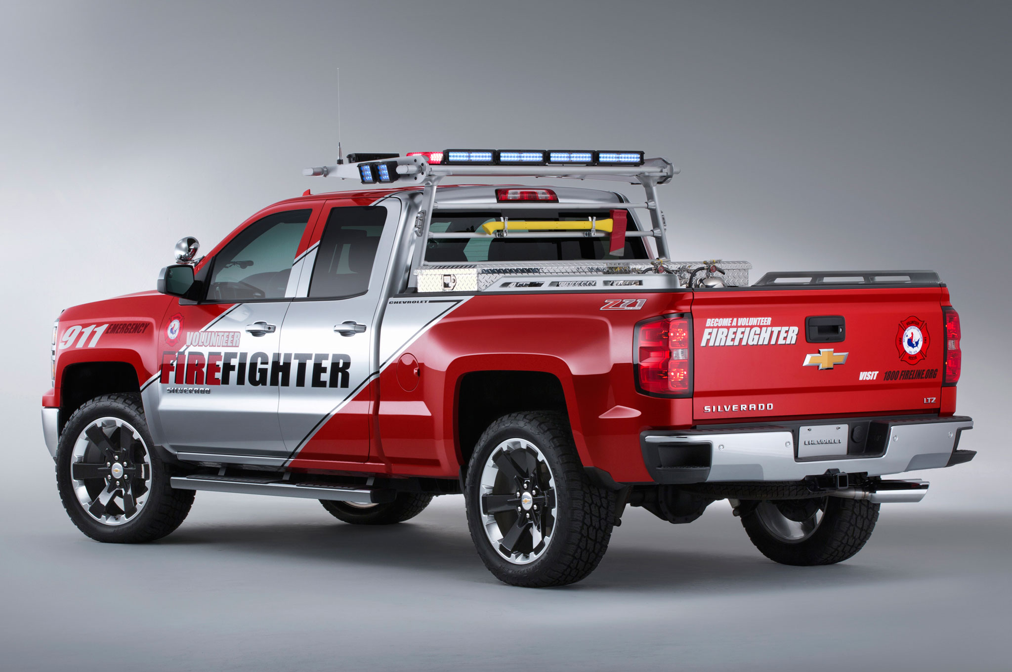 Chevrolet Silverado Volunteer Firefighter, Black Ops Concepts Shown