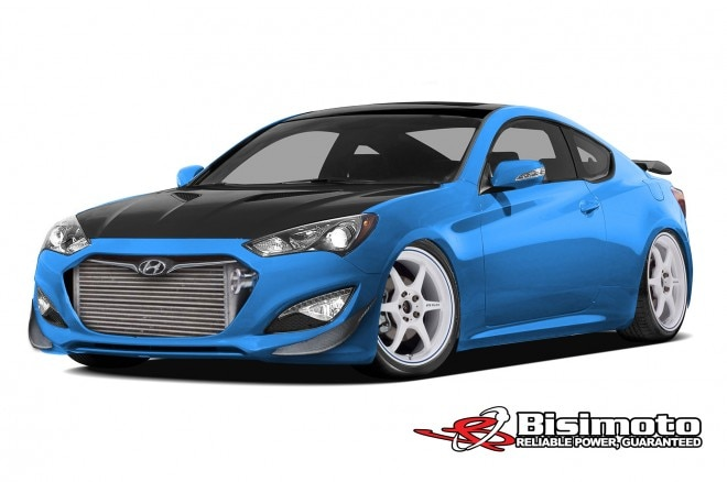 2013 Hyundai Genesis Coupe By Bisimoto Engineering Front Three Quarter1 660x438