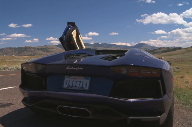 2013 Lamborghini Aventador Roadster Rear View Door Open1 660x438