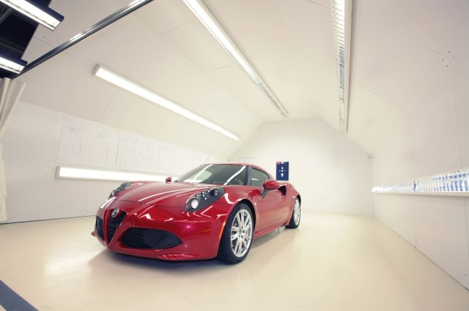 2014 Alfa Romeo 4C Front Three Quarter In Factory1 660x438