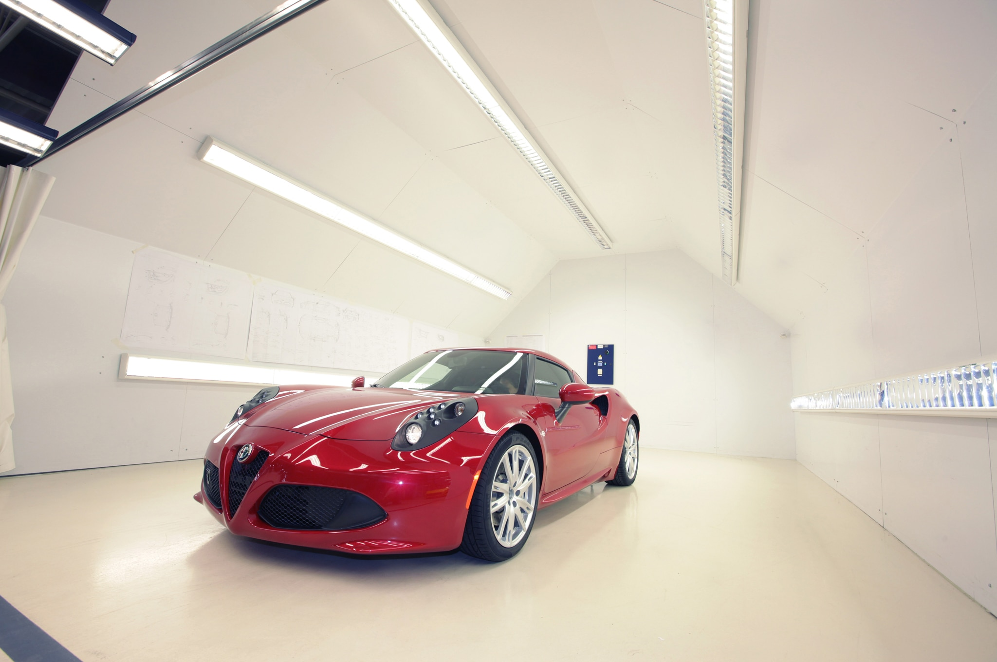 2014 Alfa Romeo 4C Front Three Quarter In Factory1