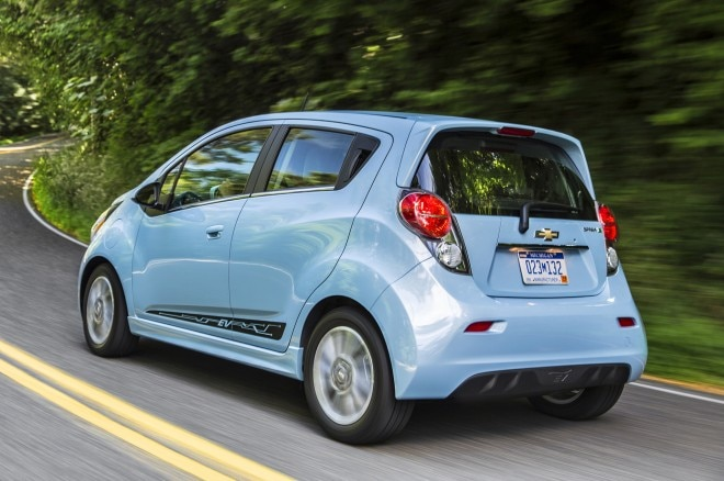 2014 Chevrolet Spark Ev Rear Three Quarters1 660x438