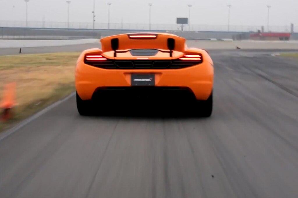 2014 Mclaren Mp4 12c Rear View Spoiler Up1