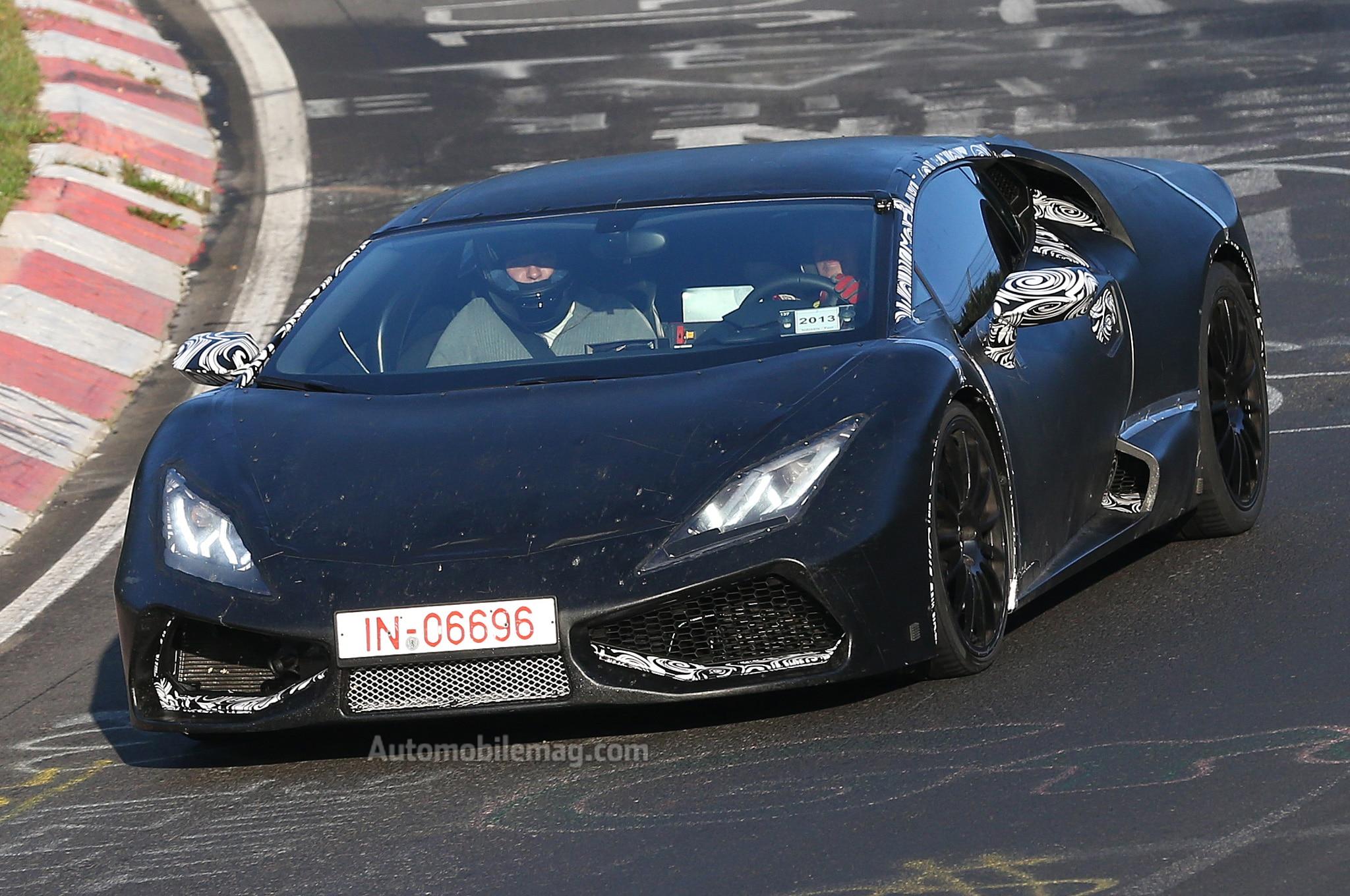 2015 Lamborghini Cabrera Prototype Testing On Nurburgring Front View 21