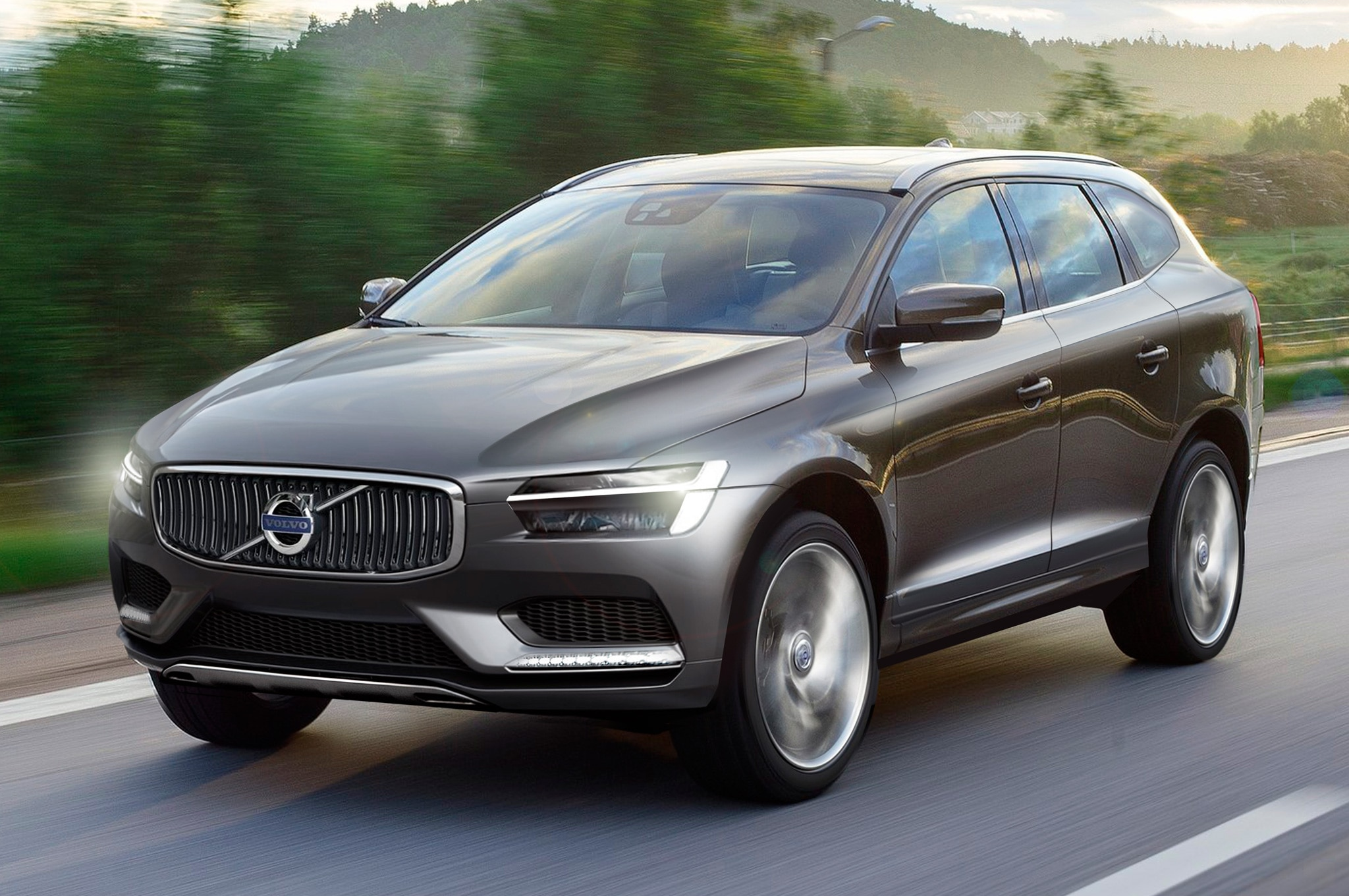 2015 Volvo XC90 Front Three Quarters View Rendering By Miroslav1