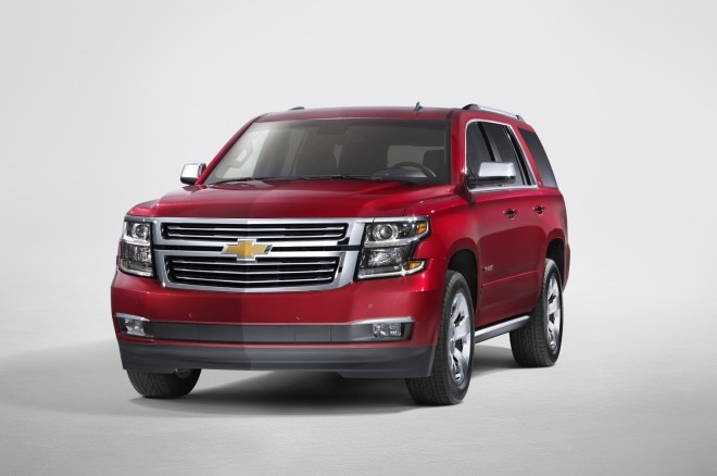 2015 Chevrolet Tahoe Front Three Quarters1 660x438