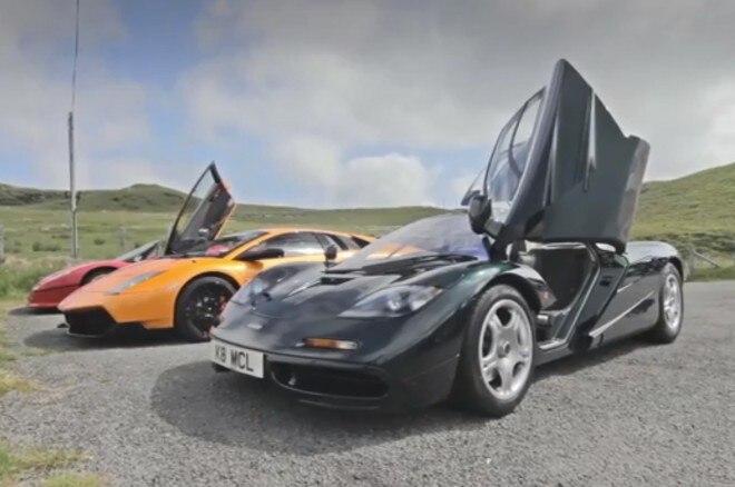 Evo McLaren F1 Lamborghini Murcielago SV Ferrari F50 Front View 660x438
