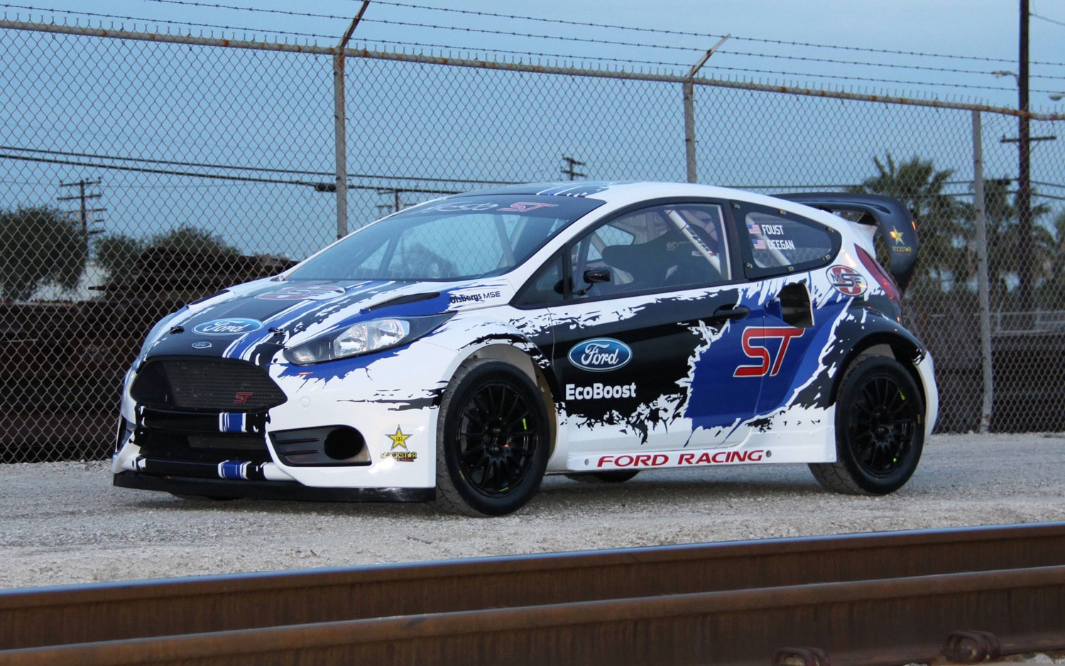 Ford Fiesta ST Rally Car Front Three Quarter2