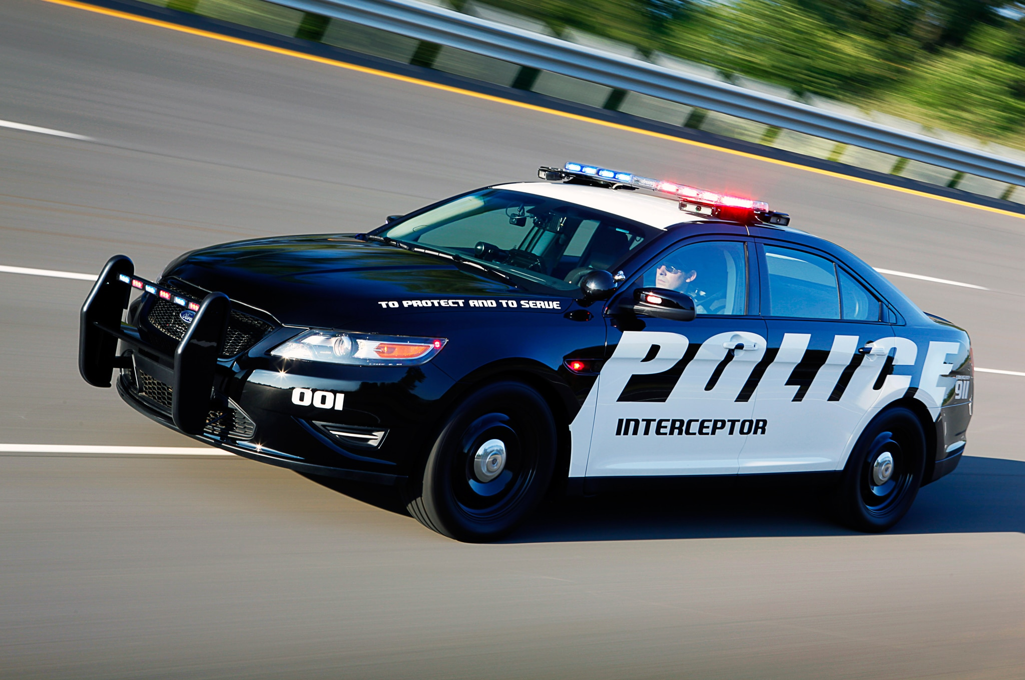 Ford Taurus Police Interceptor Sedan Front Three Quarter Motion1