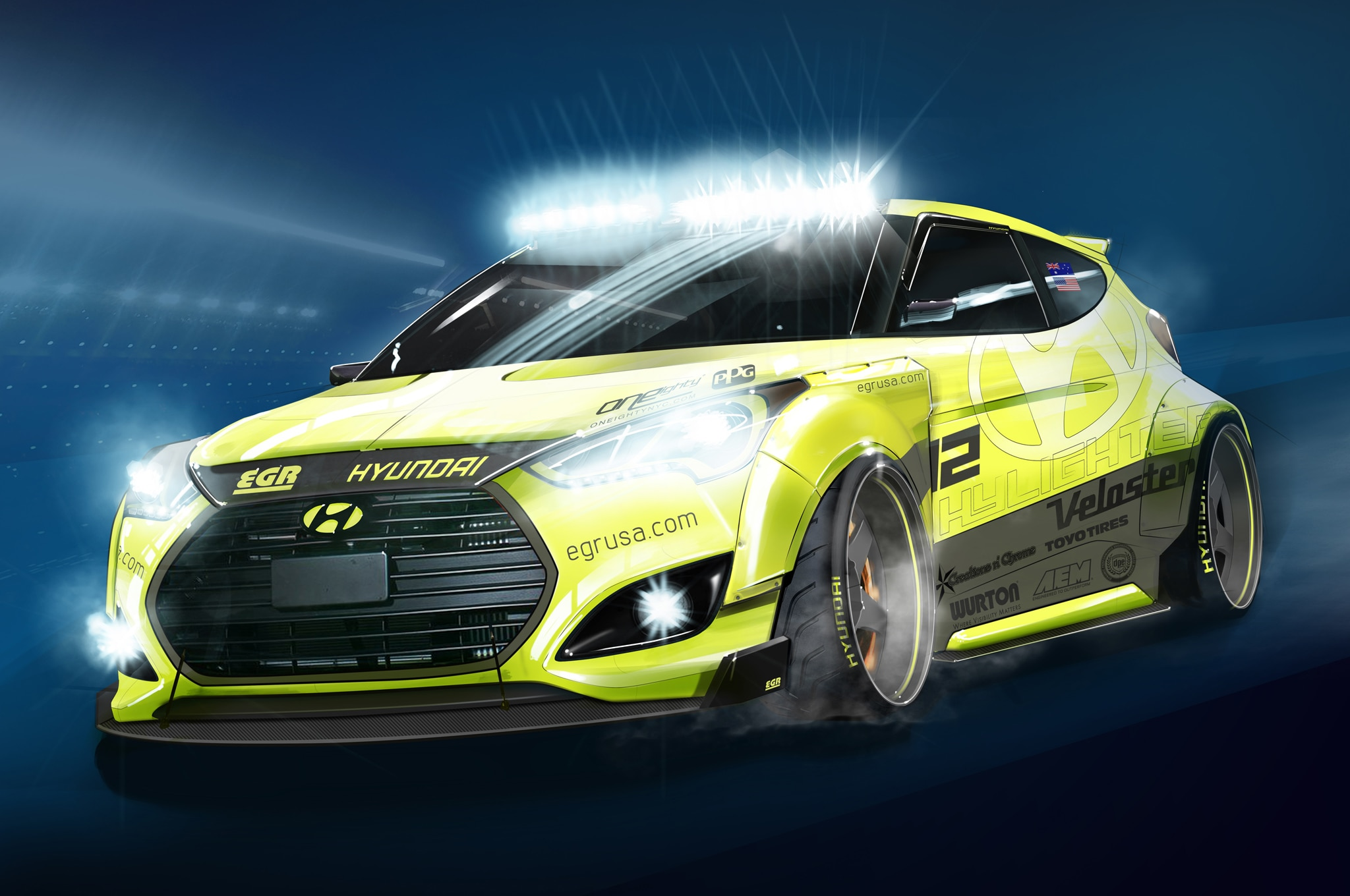 Hyundai Veloster Turbo Modified For Sema Show