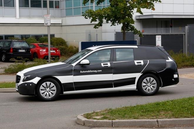 Mercedes Benz C Class Wagon Prototype Left Side 11 660x438