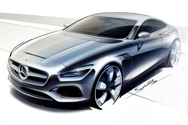 Mercedes Benz S Class Coupe Concept Rendering1 660x438